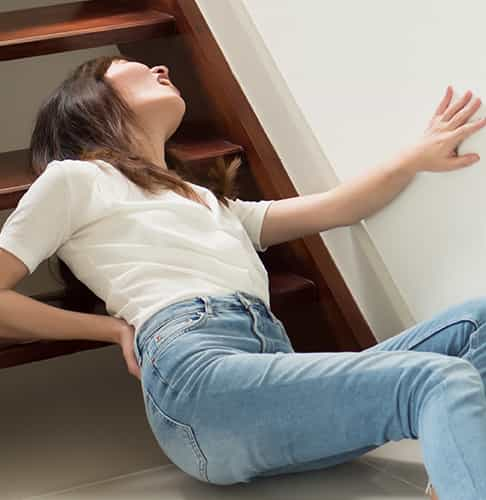 falling from stairs