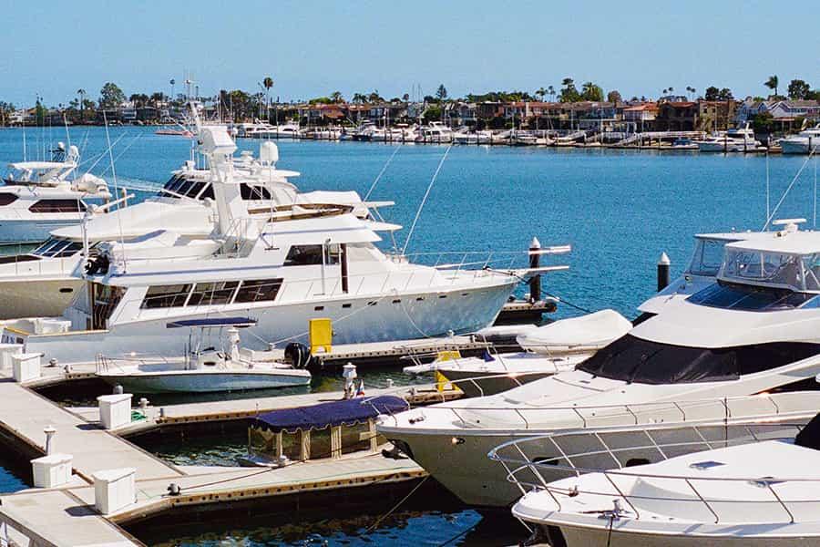 marina with jachts